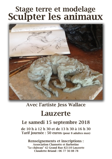 Stage Sculpter les animaux Jess Wallace72dpi